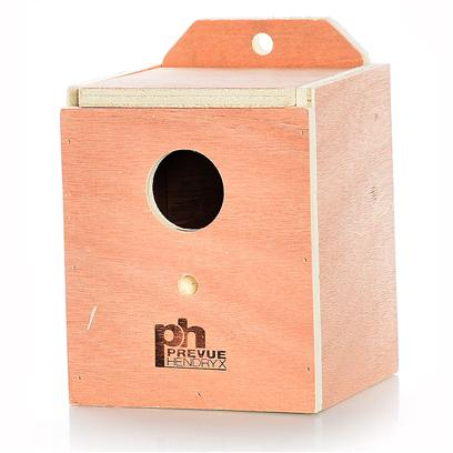 Prevue Presents Finch Nest Box Wood (Inside Mount) Ph (Inside). Solid Hardwood Nest Boxes with Indented Bottom Center to Prevent Egg Rolling. Top Opening for Easy Cleaning. Finch Size 4 7/8&quot; X 4 7/8&quot; X 5 7/8&quot;H [24554]
