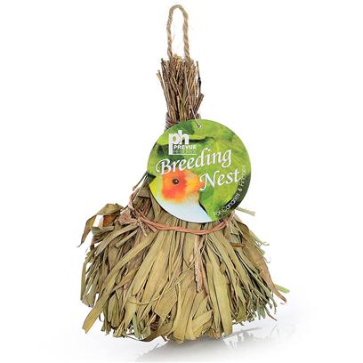Prevue Presents Finch Tiki Hut Nest. Covered Nest Woven Natural Fiber Nest with Tiki Hut Appearance. [24557]