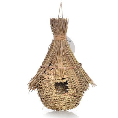 Prevue Presents Jumbo Grass Hut Bird Nest/House. Indoor/Outdoor Bird Nest. [24558]