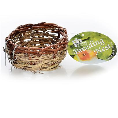 Prevue Presents Keet Large Hut Twig Nest. Large Size Covered Twig Nest for Breeding, Made of all Safe Natural Fibers. [24560]