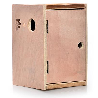 "Prevue Presents Keet Nest Box-Wood (Outside Mount) Wood Box. 8""L X 6 ""W X 6 ""H, Solid Wood Nest Box. Indented Bottom and Double Side Opening Panels for Easy Cleaning. [24562]"