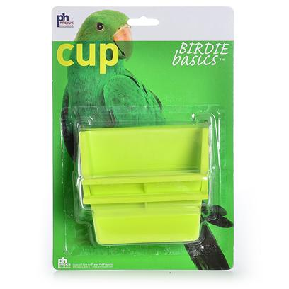 Prevue Presents Cup with High Back 6oz-2 Pack. These Cups Feature a Universal Fit for all Small-Medium Cage Models and Come in Assorted Colors (Purple, Blue, Teal and White). Sold in Packs of 2. [24776]