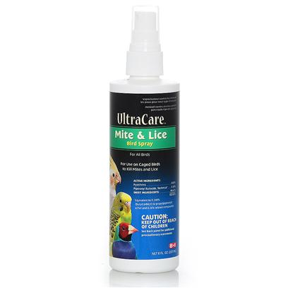 8 in 1 Presents Mite and Lice Spray 8oz 8in1. 8in1 Understands the Special Needs of Pet Birds. Our Premium Line of Bird Products Includes an Array of Essential Health Care Remedies, Supplements and Accessories for Birds' Unique Needs. Daily Multi-Vitamin Treats for Small Birds is a Daily Vitamin and Mineral Supplement in an Easy-to-Feed, Great Tasting Treat Form. Helps Ensure Optimum Nutrition and Overall Good Health. Mite & Lice Spray for all Birds. Kills Mites and Lice on Birds. Safe and Effective. [24811]