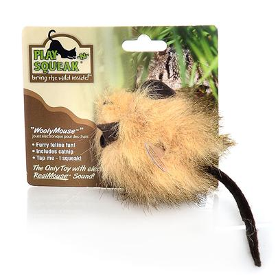Our Pets Company Presents Ourpets Play-N-Squeak Wooly Fur Mouse Toy. Wooly Mouse is a Fun and Furry Outlet for your Cat's Instinctual Need to Hunt, Stalk and Pounce. This Fuzzy Toy Provides Plenty of Mental and Physical Activity and Stimulation and also Features the Realmouse 'Squeak'. [25987]