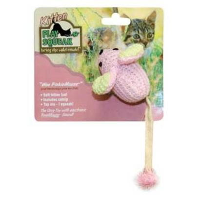 Our Pets Company Presents Ourpets Play-N-Squeak Kitten Wee Pinkie Mouse. Wee Pinkiemouse is Soft and Playful, and will Satisfy your Kitten's Preying Instinct Safely, and with no Mess!Wee Pinkie Mouse Features our Realmouse Sound. [25990]
