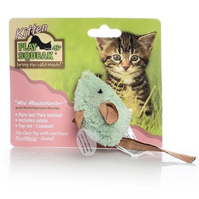 Our Pets Company Presents Ourpets Play-N-Squeak Kitten Wee Mouse Hunter. The Wee Mousehunter Satisfies your Kitten's Preying Instinct Safely, and with no Mess! Your Kitten will Stay Busy Hunting, Chasing, Stalking and Pouncing. All Play-N-Squeak Kitten Toys Feature the Realmouse Sound for Added Fun. [25991]