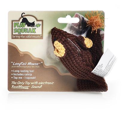Our Pets Company Presents Ourpets Play-N-Squeak Longtail Knit Mouse Toy. Get a Long Little Mousy! This Tail Goes a Long Way Towards Providing your Cat Hours of Fun! Soft Knit Fabric is Perfect for Catching Kitty's Claws. [26003]