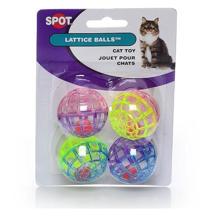 Ethical Presents Lattice Play Ball with Bell-4pk 4 Pack. Pretty Pastel Lattice Balls, Great for Hours of Rolling Fun. [26017]