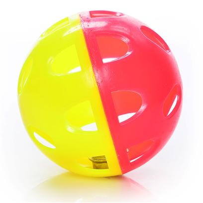 Ethical Presents Lattice Neon Jumbo Ball with Bell Jumbo-2.5'. 2.5 Neon Lattice Ball with Bell, Great Interactive Toy. [26018]