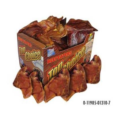 Beefeaters Presents Top Choice Bulk Display Box-Pig Ears (50pk) Beef Tc Pig 50pk. Top Choice Bulk Display Box - Pig Ears (50pk) [26032]