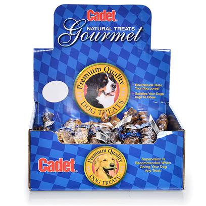 Ims Pet Industries Presents Cadet Gourmet Display Box-Thick Braided Bull Stick (25pc) 12' Large. Bulk Boxes have Full Color Art Individually Shrink Wrap [26039]