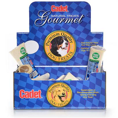 "Ims Pet Industries Presents Cadet Gourmet Display Box-Stuffed Bone-Peanut Butter 5-6' - 18piece. Cadet Gourmet Display Box Stuffed Bone Peanut Butter (18 Pc) 5-6"" [26042]"