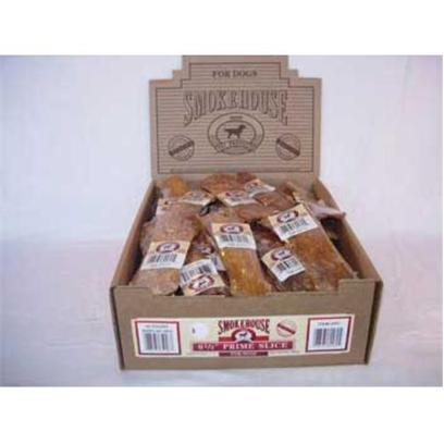 Smokehouse Presents Smokehouse 6.5' Prime Slice Shelf Display Box 40ct Small (Sm) Sw Dsp Bx. Each Prime Slice is Shrink Wrapped and Upc Labeled Stylish Cardboard Display can Fit on Counter or Shelf or in Smokehouse Wire Rack #20000 100% Natural Smoked Beef Product Great Treat for your Dog that Provides Hours of Fun. Great for Keeping Teeth Clean and Healthy. Made in the Usa Supplemental Treat [26060]