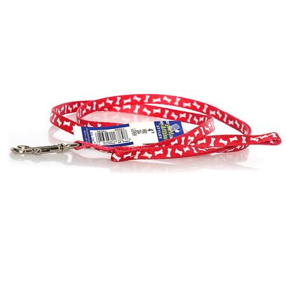 Coastal Presents Nylon Bone Pattern Lead-Red 3/8' X 4ft. Dress Up your Pet in the Most Fashionable Styles with Pet Attire. Silky, Smooth and Comfortable, this Product Line Includes our Tuff Collars and Matching Leads. Vibrant, Colorfast Patterns with Outstanding Artistidetail are Printed on Both Sides. [26136]
