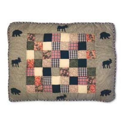 Petmate Presents Moose Medley Quilted Bed 30 X 40'. Zippered for Easy Cleaning. Filled with Polyester Fiber and Dried Cedar Shavings. [26174]