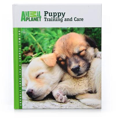 Nylabone Presents Animal Planet Puppy Training and Care Book. Whoever Believes that Happiness is Intangible Forgot About Puppies. They're Handfuls of Hairy Responsibilities However, and the Animal Planet Puppy Training and Care Book Presents Those Responsibilities in Clear, Organized Descriptions. Although Common Puppy Problems are Addressed, You'll Read the Advice of World Renowned Trainers and Breeders on the Most Current Positive Training Methods for Basic Obedience, Housetraining, Crate Training and Socialization. Starting from the First Night Home and the First Trip to the Vet, this Book Advises on Training, Healthcare, Feeding, Housing and Grooming, Even Delving into Aspects of Play. There are over 60 Full-Cover Photographs, as Well as Helpful Tip Boxes Highlighting Training Techniques for Every Chapter of this 112-Page Book. Features  Informative and Complete with Tips and Photos.  User Friendly for the Whole Family.  Easy to Follow Training Guide. [26325]