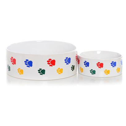 Buy Ceramic Paw Print White Stoneware Dish products including Ceramic Paw Print White Stoneware Dish 5', Ceramic Paw Print White Stoneware Dish 7.5' Category:Bowls Price: from $5.99