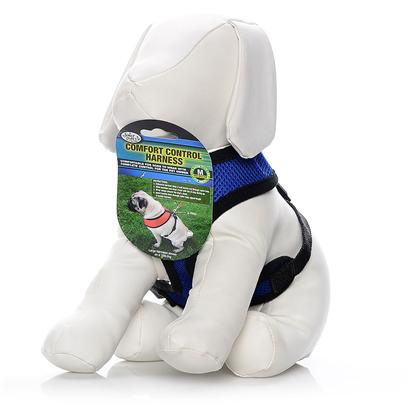 Four Paws Presents Four Paws Comfort Control Harness-Blue Small. Four Paws Comfort Control Harnesses are Comfortable for Small Dogs to Wear with Complete Control for the Owner. The Durable, Long Lasting Neoprene Mesh Material is a Very Light Weight and Breathable for Comfort. Blue Xx-Large 29-40lb [26452]