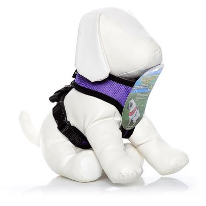 Four Paws Presents Four Paws Comfort Control Harness-Purple Medium. Walking your Dog should be Fun, for you and your Pet. Harnesses Built for More Colossal Canines may not be as Comfortable for Smaller Pups. If you'Re Looking for the Perfect Fit for a Small Dog, then Walk this Way! Designed with Little Guys in Mind, the Four Paws Comfort Control Harnesses Come in a Variety of Sizes to Make Sure you Find your Perfect Proportions. Dogs Weighing from 3 to 29 Pounds have a Harness just for them, with Adjustable Nylon Straps to Ensure a Snug Fit. The Four Paws Comfort Control Harness Gives you Complete Control over your Walk but Won'T Constrict or Pinch your Smaller Dog. The Harness is Ideal for Guiding your Pup on a Leash and is Made from a Soft Neoprene Material that'S also Breathable for True Comfort. [26469]