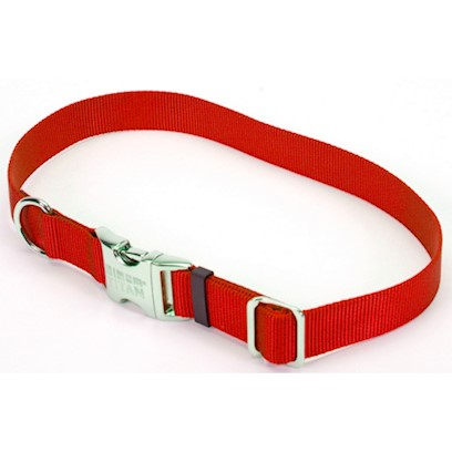 Coastal Presents Spectra Adjustable Nylon Collar with Metal Buckle 1' - Black. All Metal Construction for Superior Strength. Perfect for Tie Out. Convenient, Side Release Buckle. Will not Rust. [26680]