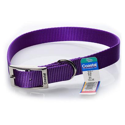 Coastal Presents Coastal Nylon Single Layer Collar-Purple 1' X 22'. This Collar is Constructed with a 1&quot; Single Ply Web and is Primarily Recommended for Large Dogs. Coastal's High Quality Nylon is Specially Processed to Prevent Fraying and Increase the Strength. All Nylon Products are Carefully and Neatly Finished for Comfort, Appeal and Durability. [26690]