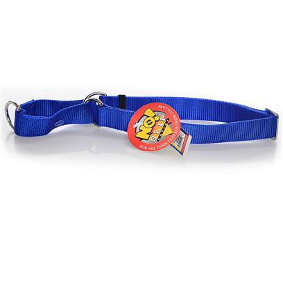 Coastal Presents No! Slip Collar-Blue Large. Excellent for Dogs which Easily Slip a Collar (I.E. Greyhounds, Dachshunds, Etc.). The Unique Limited Closure Prevents the Choke from Becoming Too Tight. This Adjustable Choke/Collar is Made from High Quality Nylon and is Thick and Strong. All Nylon Products are Carefully and Neatly Finished for the Best Look and Durability. [26697]