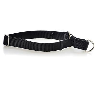 Coastal Presents Nylon no-Slip Adjustable Greyhound Collar-Black Large. Excellent for Dogs which Easily Slip a Collar (I.E. Greyhounds, Dachshunds, Etc.). The Unique Limited Closure Prevents the Choke from Becoming Too Tight. This Adjustable Choke/Collar is Made from High Quality Nylon and is Thick and Strong. All Nylon Products are Carefully and Neatly Finished for the Best Look and Durability. [26701]