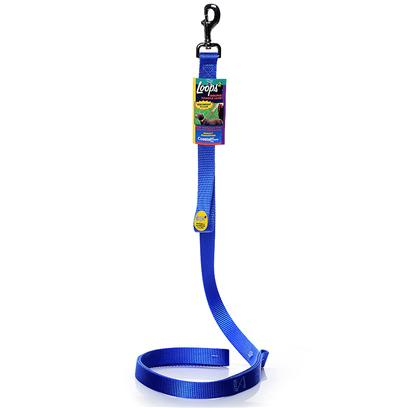 Coastal Presents Loops 2 Double Handle Lead-Blue 1' X 4ft. This Lead is Constructed with a 1&quot; Single Ply Web and Features a Second Handle Positioned Close to the Dog's Collar. The Second Handle Eliminates the Need to Wrap the Leash Around your Hand to Shorten the Lead. Coastal's High Quality Nylon is Specially Processed to Prevent Fraying and Increase the Strength. [26711]