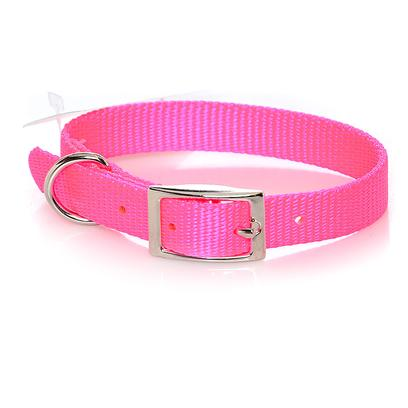 Coastal Presents C Nylon Collar-Neon Pink 5/8' X 12'. This Collar Consists of 5/8&quot; Nylon and is Best Suited for Puppies and Small Dogs. Coastal's High Quality Nylon is Thick and Strong and Specially Processed to Prevent Fraying. All Nylon Products are Carefully and Neatly Finished for the Best Look and Durability. [26755]