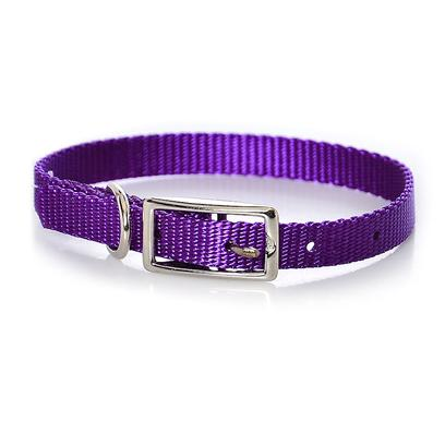 "Coastal Presents Nylon Collar-Purple C Nyl Collar 3/8'x10' Purple. This Collar Consists of 3/8"" Nylon and is Best Suited for Cats, Puppies, and Other Small Pets. Coastal's High Quality Nylon is Specially Processed to Prevent Fraying and Increase the Strength. All Nylon Products are Carefully and Neatly Finished for Comfort, Appeal and Durability. [26760]"