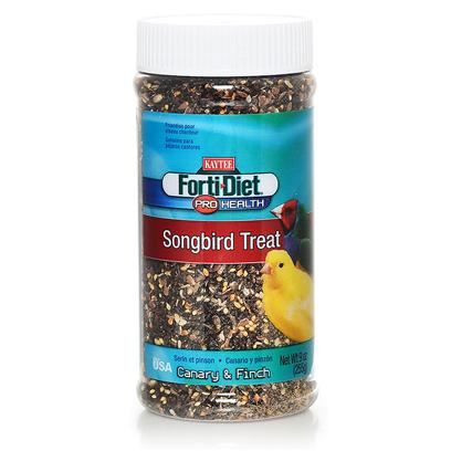 Kaytee Presents Forti Diet Pro Health Canary Songbird Jar 9oz. Kaytee Forti-Diet Pro Health Songbird Treat for Canaries and Finches is Nutritionally Formulated to Give Singing Birds what they Need to Create Beautiful Music. Kaytee Products is Dedicated to the Health and Well Being of your Pet. [26787]