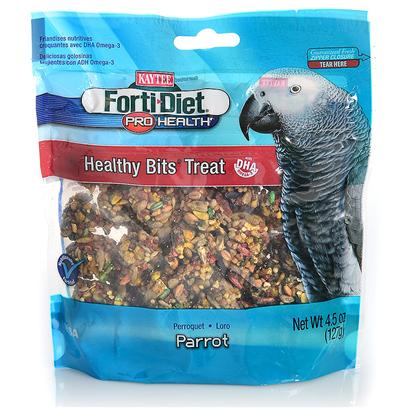 Kaytee Presents Forti Diet Pro Health Canary Healthy Bit Parrot 4.5oz. Kaytee Forti-Diet Pro Health Healthy Bits Provide a Crunchy, Fun-to-Eat Treat for your Pet. Healthy Bits are Made with Nuts, Fruit, Seeds and a Touch of Honey, all Packed into a Perfect Size Morsel to Offer by Hand or in a Treat Dish. Kaytee Added Dha Omega-3 to Support Heart, Brain and Visual Functions and Natural Prebiotics and Probiotics to Aid in the Digestive Health of your Pet. 4.5oz [26790]