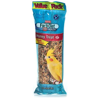 Kaytee Presents Kaytee Forti Diet Pro Health-Cockatiel Honey Stick 4oz. Kaytee Forti-Diet Pro Health Treat Sticks with Dha Omega-3 to Support Heart, Brain and Visual Functions are a Fun-to-Eat Way to Add Nutrition and Activity to your Pet's Diet. Natural Prebiotics and Probiotics are also Added to Promote Digestion. Choose from a Variety of Fresh Tasting Kaytee Treats Made from Fortified, Delicious Ingredients. [26806]