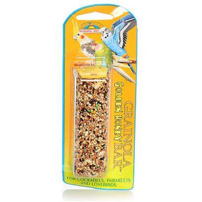 Sun Seed Company Presents Grainola Small (Sm) Hook-Honey 2.5oz Sun Hook Honey. An Appetizing Combination of your Bird's Favorite Seeds Blended with the Flavorful Goodness of Natural Golden Honey. Protein (Min. 12%), Fat (Min. 7%), Fiber (Max. 15%). [26854]