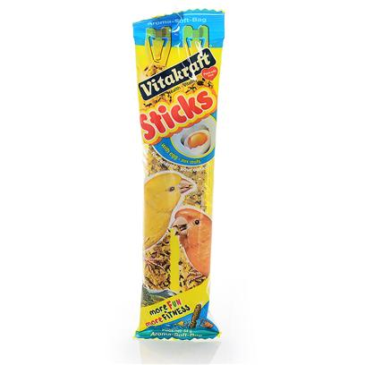 Vitakraft Presents Canary Egg Sticks 2 Pack. Canary Egg Sticks Contain a Natural Blend of Seeds and Egg, Specifically Selected for their High Nutritional Value and have been Further Enriched with Essential Vitamins, Minerals and Trace Elements. 57g.2 Oz. [26858]