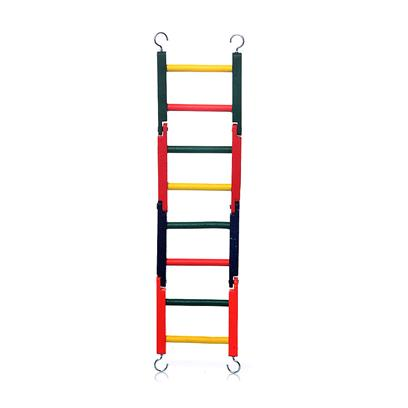 Prevue Presents Ph Hardwood Bendable Ladder 4-Section 15' Bend. Constructed from 100% Solid Hardwood with 3 Bendable Joints to Create Fun Shapes. 100% Bird Safe Fd&amp;C Colors, Total Length is 15&quot;. [26882]