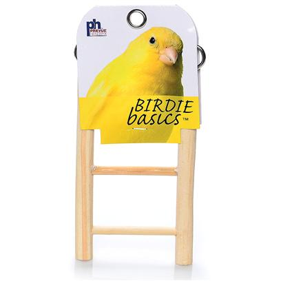 Prevue Presents Birdie Basics Wood Ladder 5 Step. Birdie Basics is a Complete Line of Products Designed to Meet the Everyday Needs of Birds and their Humans. Birdie Basics Contains Everything Even a Novice Bird Owner Could Ask for to Keep their Fine Feathered Friend(S) Feeling Fabulous. All Items have a Full-Color Header Card and are Packaged in Heavy-Duty Clear Vinyl Bags. [26885]