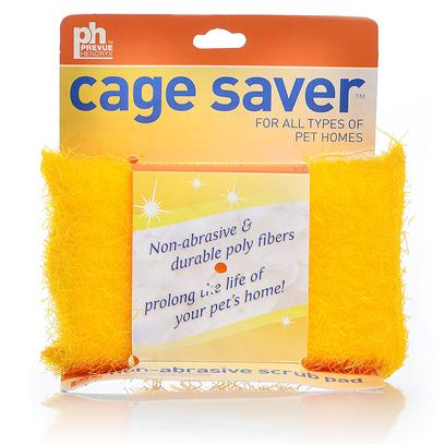 Prevue Presents Ph Cage Saver Scrub Sponge. The Cage Saver Scrub is an Easy Way to Clean the Cage or Aquarium. It is Constructed of 100% Split Polypropylene and Polyurethane Fibers which will not Damage the Fine Finish of your Cage all Allows you to Scrub the Dried on Matter. Simply Use Warm Water then Dry the Cage Thoroughly. 5 X 3&quot; Pad [26908]