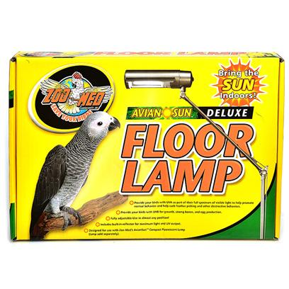 Zoo Med Laboratories Presents Avian Sun Deluxe Floor Lamp Extends to 6'. Fully Adjustable Avian Floor Lamp for Use with Zoo Med's Aviansun 5.0 Uvb Compact Fluorescent Lamp. Six Points of Adjustment Allow for Use in Almost any Position. Built in Reflector Increases Light and Uv Output. Weighted Base for Stability. [26915]