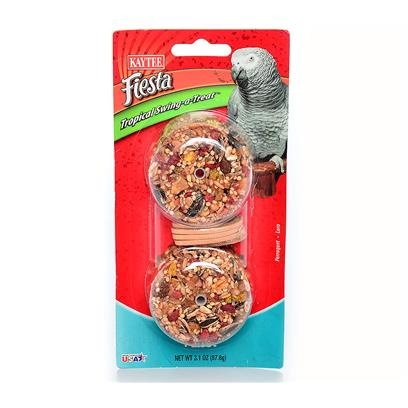 Kaytee Presents Kaytee Fiesta Parrot Trop Swing-a-Treat 3.1oz. - [26923]