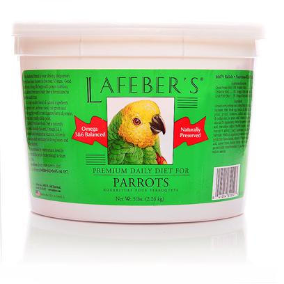 Lafeber Company Presents Laf Parrot Pellets 1.25lb Tub. Lafeber's Premium Daily Diet Pellets have been on the Market for over 25 Years. The Pellets Contain all the Necessary Vitamins, Minerals and Amino Acids Needed for Good Health and Nutrition. Made with High Quality Ingredients, Locally Grown Non-Gmo Corn and Human Grade Whole Egg, which is the Most Highly Digestible Source of Protein Available. A Hint of Natural Molasses Adds a Great Taste to the Pellets. Since Birds Quickly Burn Calories this Diet is Ideal for their Highly Efficient Metabolism and Higher Body Temperature. When Feeding your Bird Premium Daily Diet Pellets, no Vitamin or Mineral Supplements are Needed. Watch your Bird Glow with Good Health on a Diet of Lafeber's Premium Daily Diet Pellets! 5 Lb. Tub [26970]