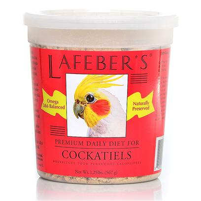 Lafeber Company Presents Cockatiel Pellets 5lb Tub. Lafeber's Premium Daily Diet Pellets have been on the Market for over 25 Years. The Pellets Contain all the Necessary Vitamins, Minerals and Amino Acids Needed for Good Health and Nutrition. Made with High Quality Ingredients, Locally Grown Non-Gmo Corn and Human Grade Whole Egg, which is the Most Highly Digestible Source of Protein Available. A Hint of Natural Molasses Adds a Great Taste to the Pellets. Since Birds Quickly Burn Calories this Diet is Ideal for their Highly Efficient Metabolism and Higher Body Temperature. When Feeding your Bird Premium Daily Diet Pellets, no Vitamin or Mineral Supplements are Needed. Watch your Bird Glow with Good Health on a Diet of Lafeber's Premium Daily Diet Pellets! 1.25 Lb. Tub [26972]