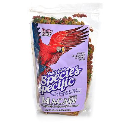 Pretty Bird International Presents Hi-Energy Special 3lb. Designed for Species that Require High Fat Levels Such as Macaws, Golden Conures and Black Palm Cockatoos. This Food Provides the High Fat Content Required by these Species with the Proper Vitamins and Minerals to Provide a Balanced Diet. 16% Protein and 10% Fat in Medium Sized Morsels. Packaged in 3 Lb. Bags Manufactured 6 Per Case [26984]