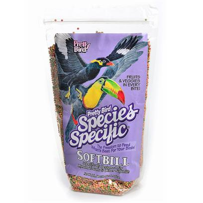 Pretty Bird International Presents Softbill Small with Fructose 2lb (Bag) Pb & Bird 3lb. Simplifies the Feeding and Management of Softbill Birds Such as Mynahs and Toucans. Manufactured with Fructose which is a Naturally Occurring Ingredient in Fruit and is in a Smaller Shaped Nugget. Our Iron Levels are Less than 60 Ppm, which is Well Below the Safe Maximum Levels Currently Recommended. Softbills Love Fruit which should be Offered on a Daily Basis. Packaged in 3 Lb. Bags Manufactured 6 Per Case [26990]