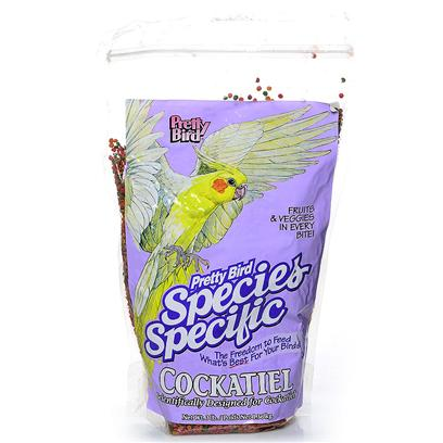 Pretty Bird International Presents Cockatiel Select 3lb. Cockatiel Select Finally, an Extruded Food Made just for Cockatiels. Manufactured with 14% Protein and 10% Fat in Small Sized Morsels. 3lbs. 3 Lb [26992]