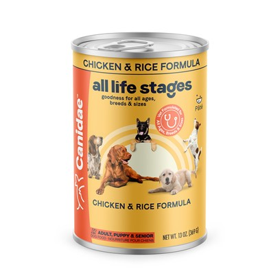 Canidae Presents Canidae all Life Stages Chicken and Rice Canned Dog Food 5.5oz Cans/Case of 12. Canidae all Life Stages Chicken and Rice Canned Dog Food---Dogs will Love the Taste! [27140]