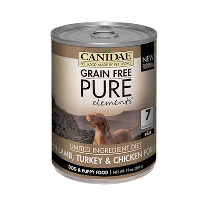 Canidae Presents Canidae Grain Free-Pure Elements Chicken Turkey Lamb and Fish Canned Dog Food 13oz Cans/Case of 12. Canidae Grain Free -Pure Elements Chicken, Turkey, Lamb and Fish Canned Dog Food, your Dog will Love It! [27148]