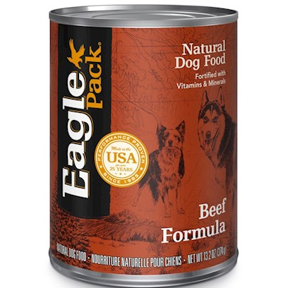 Wellpet Presents Eagle Pack Natural Dog Food-Canned Beef Formula for 13.2oz Cans/Case of 12. Eagle Pack Natural Dog Food - Canned Beef Formula for Dogs, a Complete and Balanced Diet for your Dog. [27154]