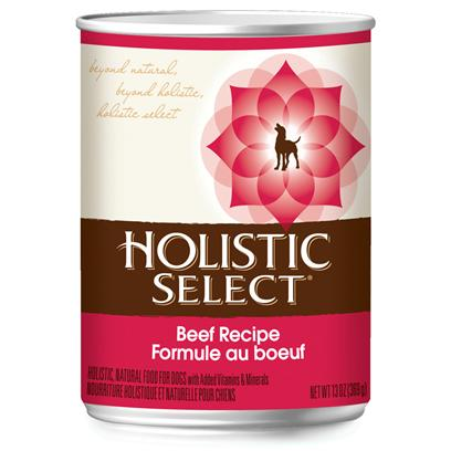 Wellpet Presents Holistic Select Beef Recipe Canned Dog Food 13oz Cans/Case of 12. Holistic Select Beef Recipe, Canned Dog Food, a Complete Balanced Food for your Dog. [27162]