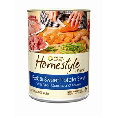 Nature's Variety Presents Nature's Variety Prairie Homestyle Pork & Sweet Potato Stew Canned Dog Food 13.2oz Cans/Case of 12. Nature's Variety Prairie Homestyle Pork & Sweet Potato Stew Canned Dog Food, Natural and Holistic Nutrition for Dogs. [27172]